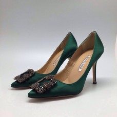 Женские туфли Manolo Blahnik Green