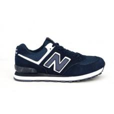 Женские замшевые кроссовки New Balance 574 Dark Blue