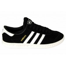 Замшевые черные кеды Adidas Hamburg BlackWhite