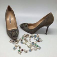 Женские туфли Manolo Blahnik Grey