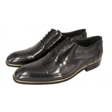 Мужские брендовые кожаные туфли Louis Vuitton Montaigne Black