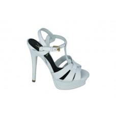 Женские босоножки Yves Saint Laurent White