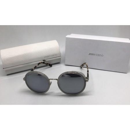 Женские солнцезащитные очки Jimmy Choo со стразами леопард