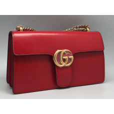 Женская кожаная сумка Gucci красная