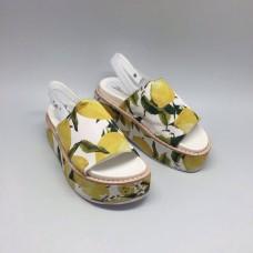 Босоножки Dolce&Gabbana Yellow/White V