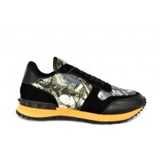 Женские кожаные кроссовки Valentino Garavani Rockstud черные