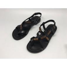 Женские кожаные сандалии Christian Dior черные