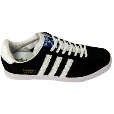 Мужские замшевые кеды Adidas Gazelle Skull Edidtion Black/White