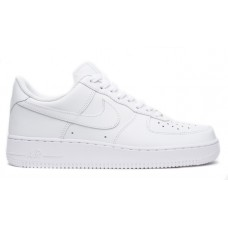 Кроссовки кожаные белые Nike Air Force 1 Low (White)