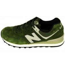 Мужские замшевые кроссовки New Balance 574 Green