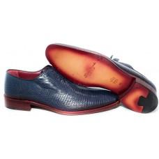 Туфли Santoni Blue (Ящерица)