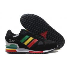 Мужские кроссовки ADIDAS ZX750 Black/Green/Orange/Red