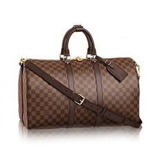 Сумка ручная кладь кожаная Louis Vuitton Broun