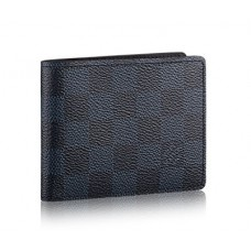 Мужское кожаное портмоне Louis Vuitton Slender Blue
