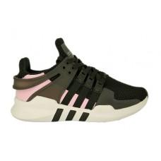 Женские летние кроссовки Adidas Equipment черные с розовым
