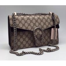 Женская кожаная сумка Gucci золотая