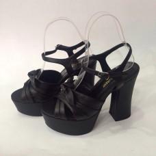 Женские босоножки Saint Laurent Black