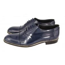 Мужские брендовые кожаные туфли Louis Vuitton Montaigne Blue