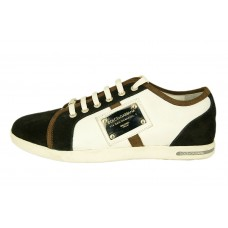 Мужские кожаные кроссовки Dolce&Gabbana черно-белые
