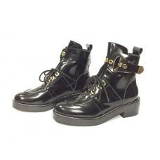 Женские осенние кожаные ботинки Balenciaga Black Leather