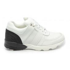 Женские брендовые кожаные кроссовки Chanel EX Sport WhiteBlack
