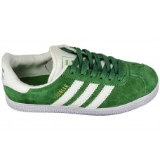 Мужские замшевые кеды Adidas Gazelle Green