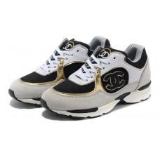 Женские брендовые замшевые кроссовки Chanel EX Sport