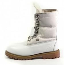 Женские зимние ботинки Timberland Teddy Albina Rust White с мехом