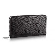 Мужской брендовый кожаный кошелек Louis Vuitton Zippy Black