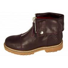 Женские ботинки Alexander McQueen Bordo