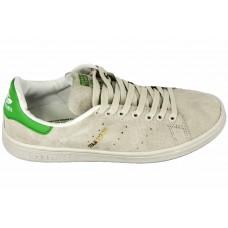 Мужские замшевые кроссовки Adidas Stan Smith Grey/Green