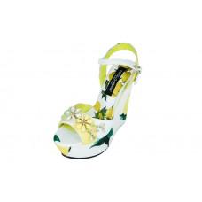 Босоножки Dolce&Gabbana White/Yellow