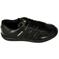 Adidas Hamburg Black Leather