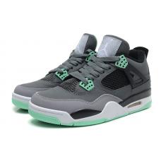 Мужские баскетбольные кроссовки Nike air jordan 4 GreyGreen
