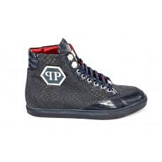 Мужские высокие осенние ботинки Philipp Plein Anniston