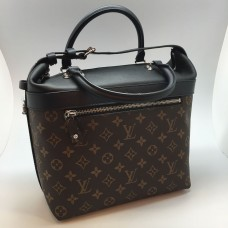 Женская брендовая кожаная сумка Louis Vuitton Alma Broun