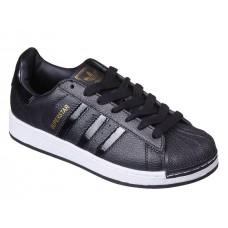 Кроссовки Adidas Superstar Black/White/G