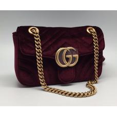 Женская сумка Gucci бордовая