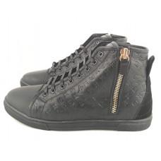 Зимние мужские брендовые кроссовки Louis Vuitton Sneakers Black