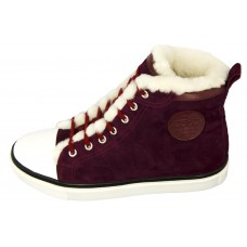 Женские кеды Hermes High Bordo Winter