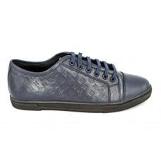 Мужские брендовые кроссовки Louis Vuitton Match-Up Sneakers Low Blue