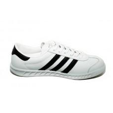 Кожаные белые кеды Adidas Hamburg White/Black