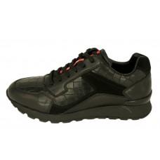 Кожаные мужские кроссовки Prada Sport черные
