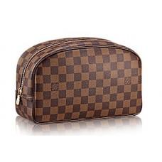Мужской кожаный дорожный несессер Louis Vuitton Damier Broun