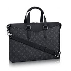 Мужской брендовый кожаный портфель Louis Vuitton Explorer Blue