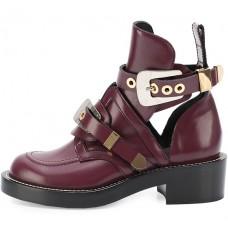 Женские ботинки Balenciaga Leather Bordo