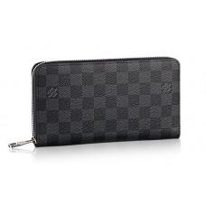 Мужской кожаный брендовый кошелек Louis Vuitton Damier Graphite Blue