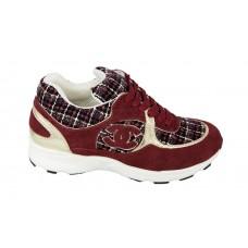 Женские брендовые кроссовки Chanel EX Sport Red/White