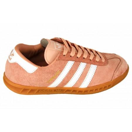 Женские замшевые кеды Adidas Hamburg Light Orange