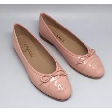 Женские брендовые кожаные балетки Chanel Cruise